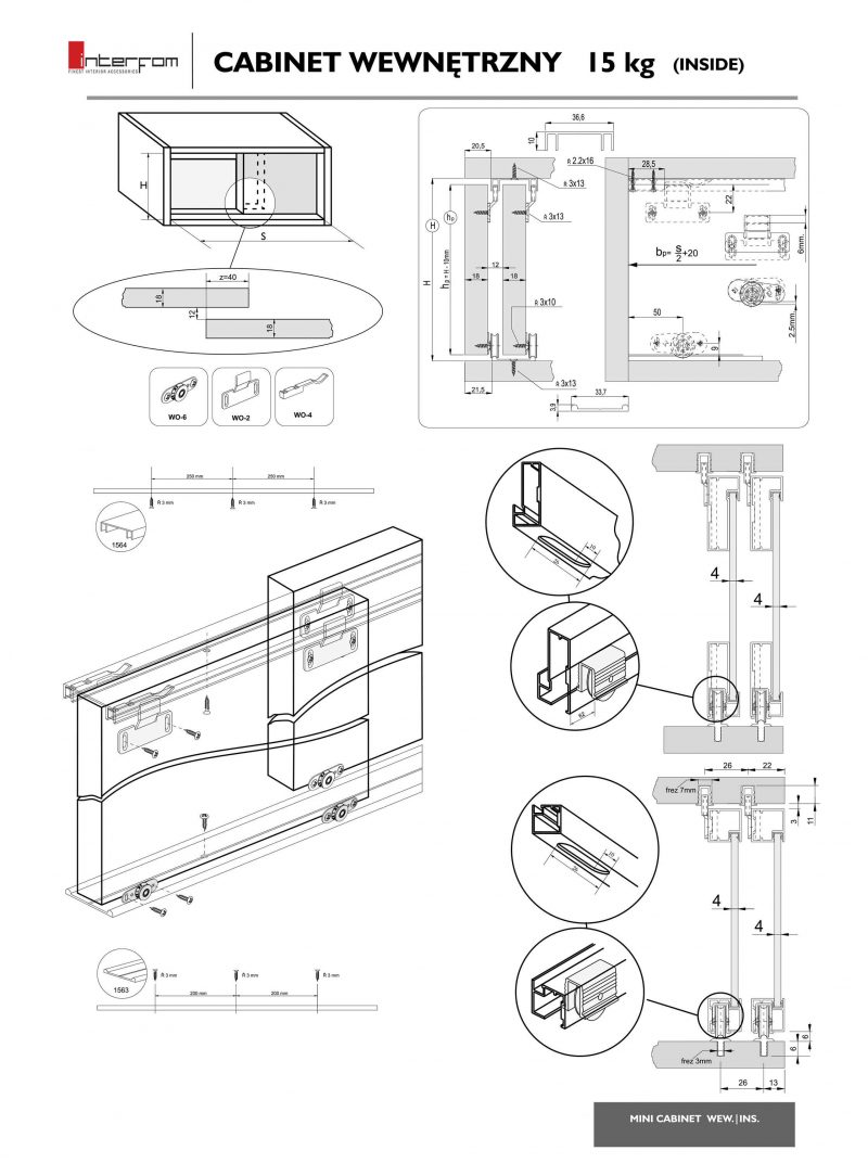 mini cabinet klizni sistem 2