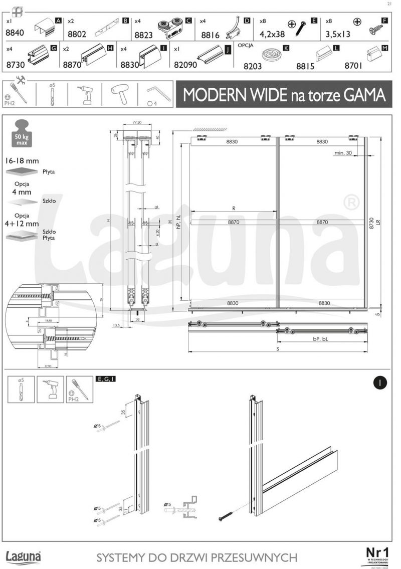 modern wide klizni sistem 2